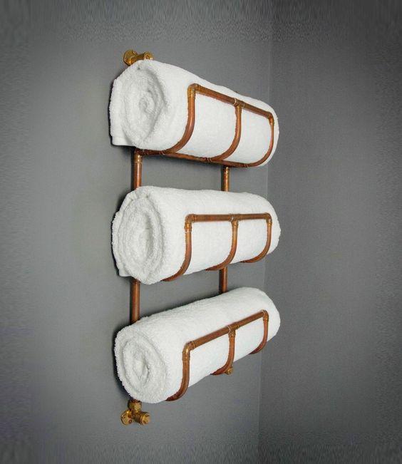 Industrial Copper Towel Rack - Perfect reclaimed style bathroom radiator rail | eBay