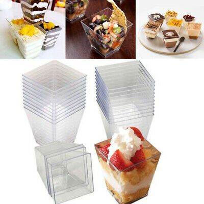 Transparent Party Supplies Dessert Cup Mousses Pastry Tools Disposable Cups