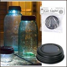 solar lid lights for mason jars
