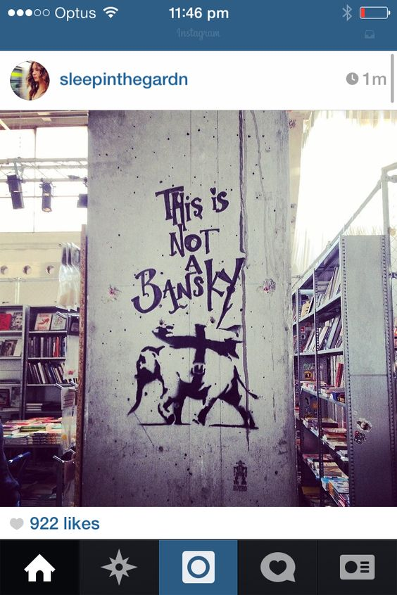 From insta. This is not a bansky.