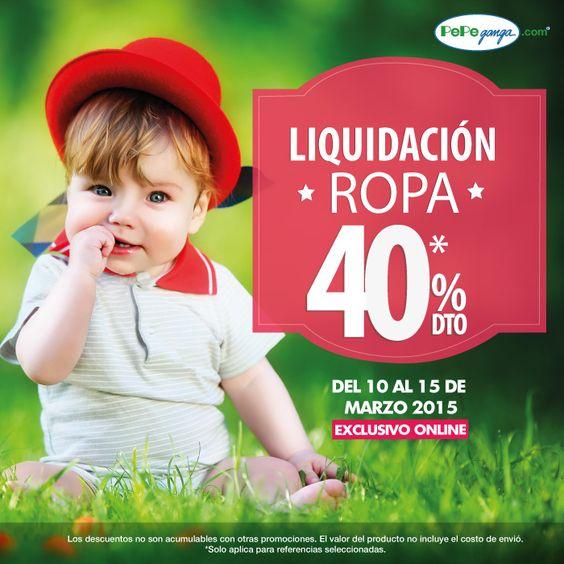 40% de descuento en ropa. ¡Comodidad y estilo! :) -------------> www.pepeganga.com