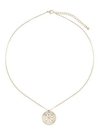 Halskette mit rundem Filigrananhänger