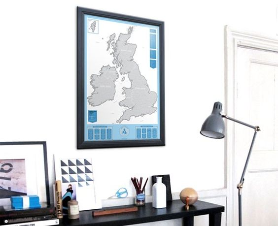 Re-pin this picture of our UK edition Scratch map by the 20th of June to be in with a chance of winning it. It's that easy.