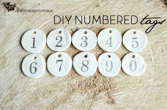DIY Numbered Tags by The Wood Grain Cottage