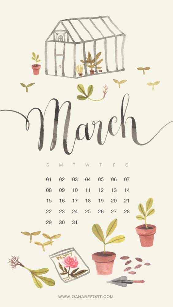 march calendar: