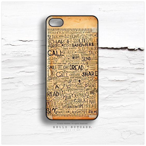 iPhone 6 Case, iPhone 5C Case Old Paper Print, TOUGH iPhone 5s Case, iPhone 4s Case, Doodle iPhone Case, Illustration iPhone Cover N12 by HelloNutcase on Etsy https://www.etsy.com/listing/100443846/iphone-6-case-iphone-5c-case-old-paper