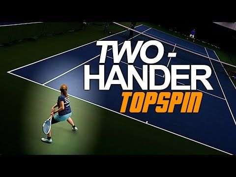 How To Hit Heavy Topspin On Your Two Handed Backhand Tennis Lesson Youtube Tennis Lessons Tennis Tennis Forehand