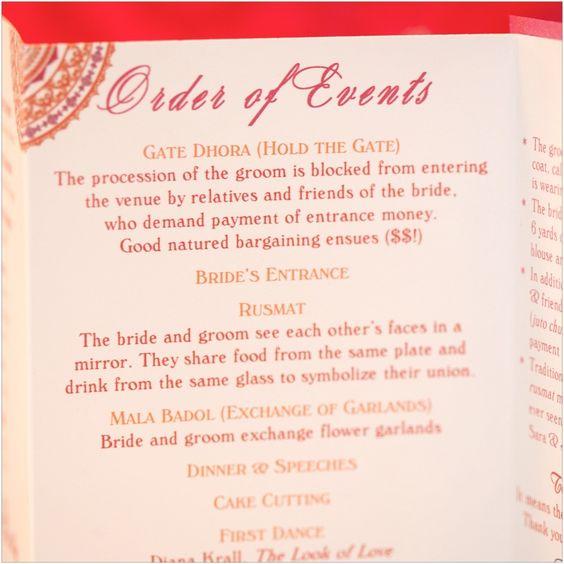 Wedding reception program for Muslim ceremony   Wedding Decor ...
