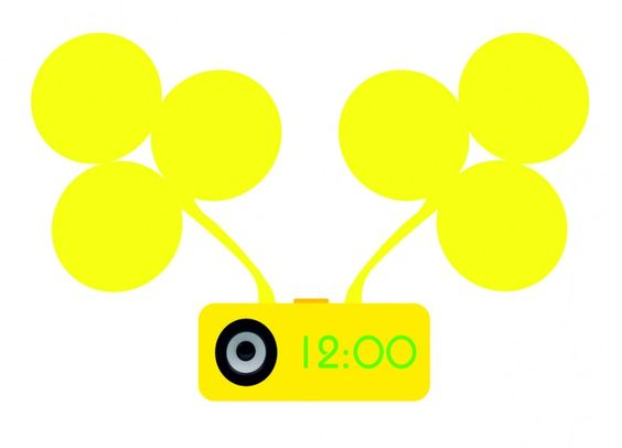 HI-TECH air light with radio alarm clock. Why yellow-yellow, because life, yellow because of the Sun's energy