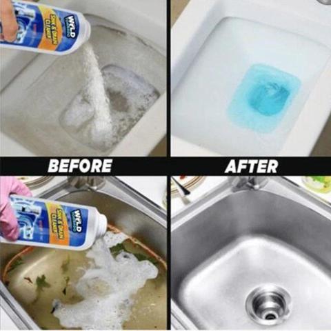Powerful Sink Drain Cleaner Sink Drain Cleaner Cleaning Hacks Drain Cleaner
