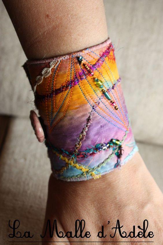 bracelet manchette hippie