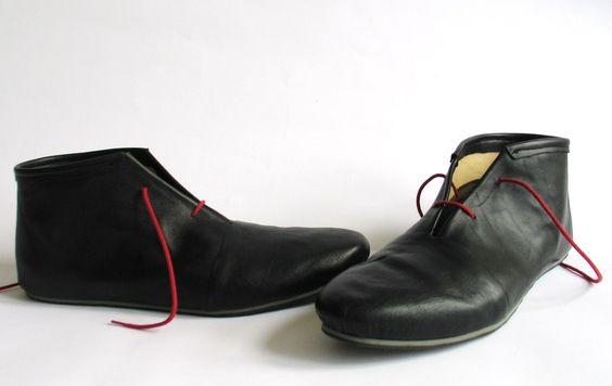 Schuhe - NILIL Unisex Stiefeletten Boots Leder Handgemacht - ein Designerstück von NILIL bei DaWanda