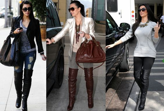 cute knee high combat boots | ... knee_boots_2012_-_celebrity_look_for_lesskim_kardashian_over_the_knee