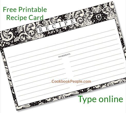 Free Recipe Cards Printable Recipe Cards Recipe Cards Printable Free Recipe Book Diy