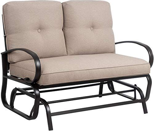 Best Seller Jy Qaqa Loveseat Outdoor Patio Glider Rocking Bench