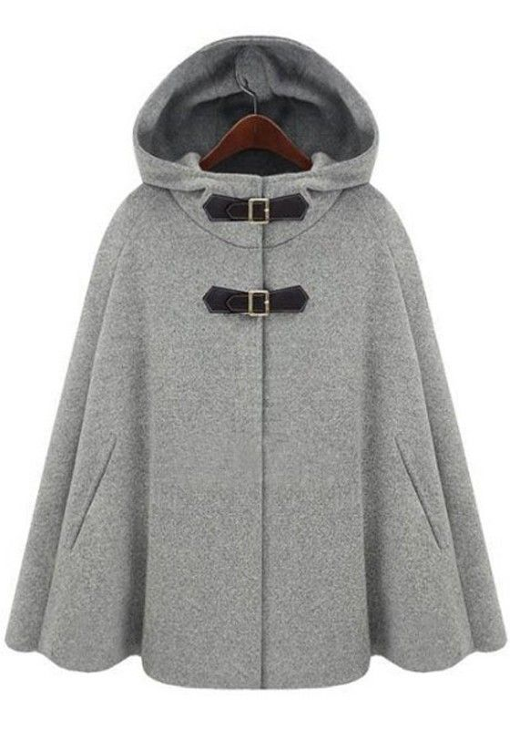 Vegan Leather Buckle Cashmere Wool Coat: