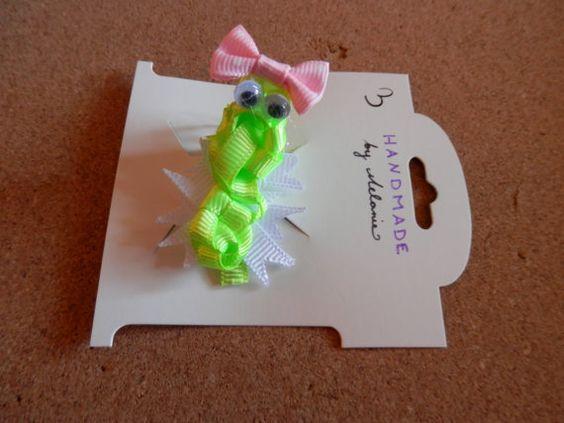 Alligator Ribbon Sculpture Hair Clip by melanieswartz on Etsy, $3.00