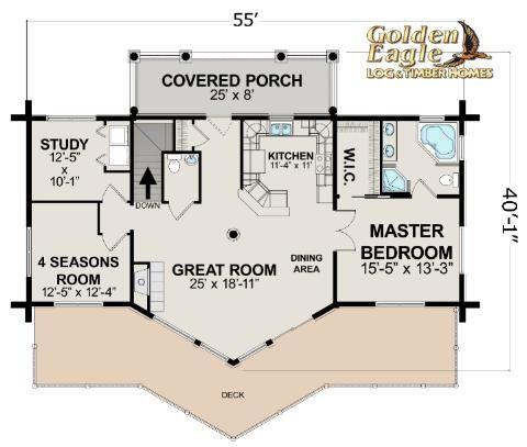 Ski Home Prow Log Home Floor Plan From Golden Eagle Log Timber Homes Log Home Floor Plans Log Cabin Floor Plans Cabin Kits Floor Plans