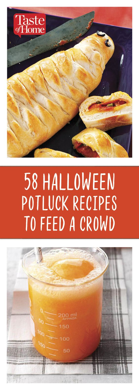 72 Spooky Good Halloween Potluck Recipes to Feed a Crowd