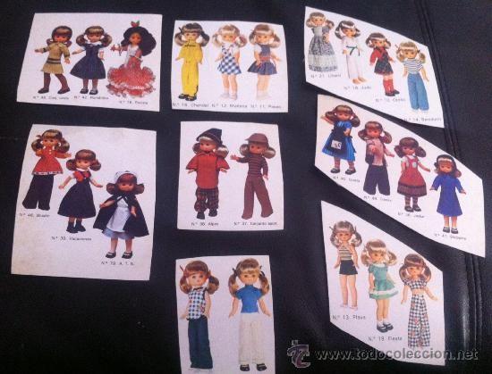 lote de cromos recortados de carton de famosa de lesly vestidos nancy años 70 (Papel - Cromos y Álbumes - Cromos Antiguos):