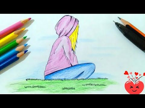 Drawing A Girl How To Draw A Girl For Beginners Cute Drawings Butterfly Drawing Youtube In 2021 Butterfly Drawing Cute Drawings Drawings