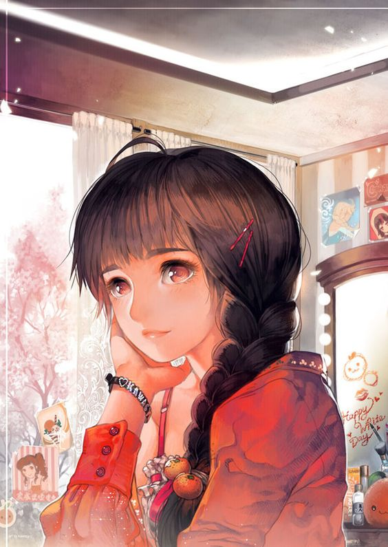 Orange day by kawacy.deviantart.com on @deviantART two words THOSE EYES!!!!