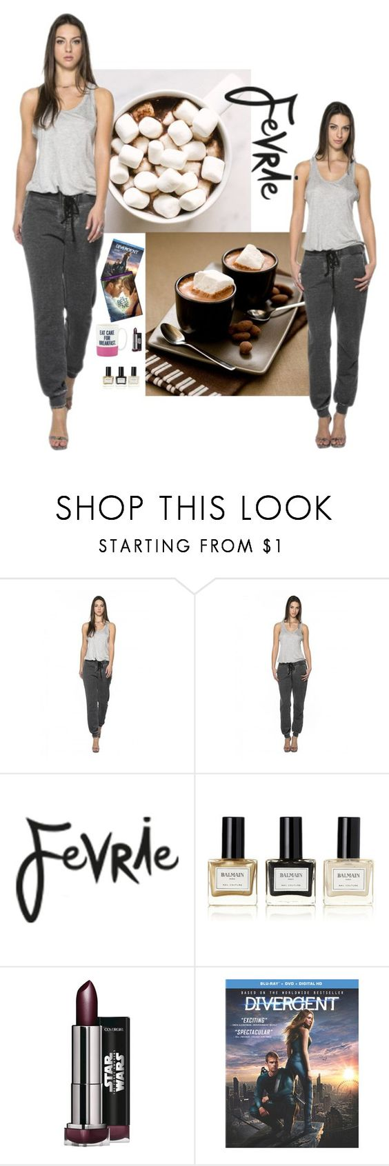 """The Billie Jogger"" by fevriefashion ❤ liked on Polyvore featuring Fevrie, Balmain and Kate Spade"