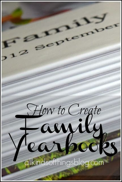 All Kinds of Things: Creating Family Yearbooks by Shutterfly