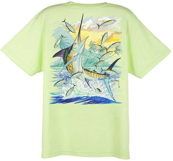 Guy Harvey Island Marlin Dri-Release Short Sleeve Tee