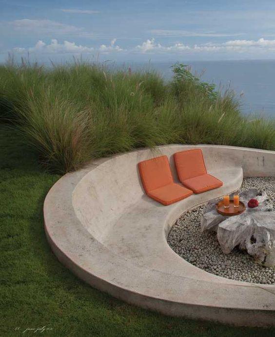 Beton - Hanglage - Sitzen | Garten | Pinterest | Bänke, Im Freien ...