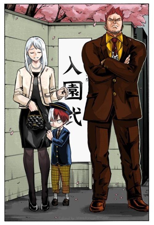 Rei, Shoto and Enji Todoroki (With images) | My hero, My hero Academia