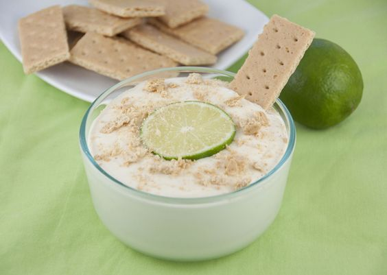 Key Lime Dip - dip that can be ate with graham crackers, fruit, or anything you like dipped in key lime (even little powdered sugar donuts, but then it's not so healthy, huh?!)