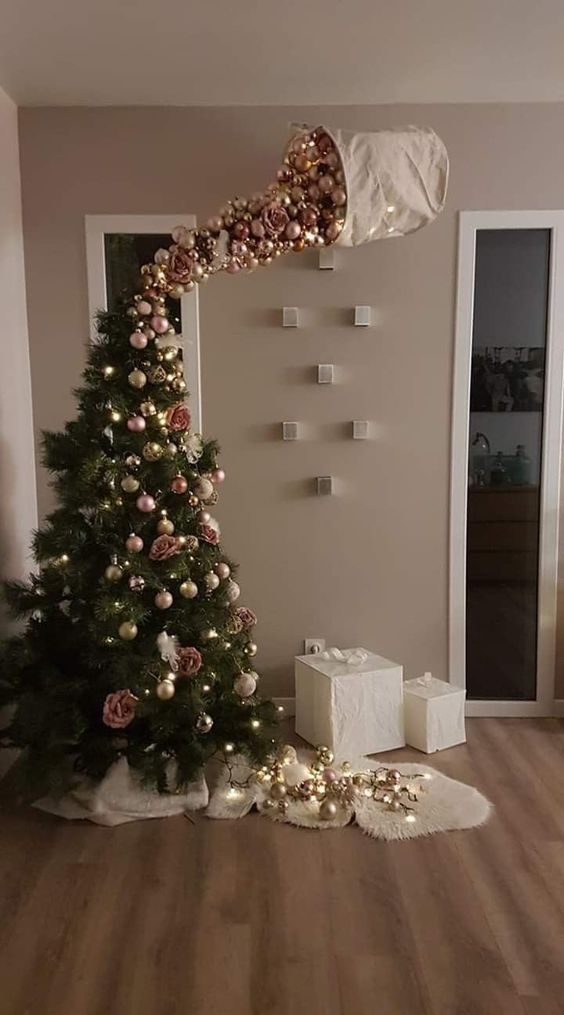 40 Unusual Cool Christmas Tree Alternatives 2019 Funny Christmas Tree Christmas Tree Ornaments Christmas Tree Decorations
