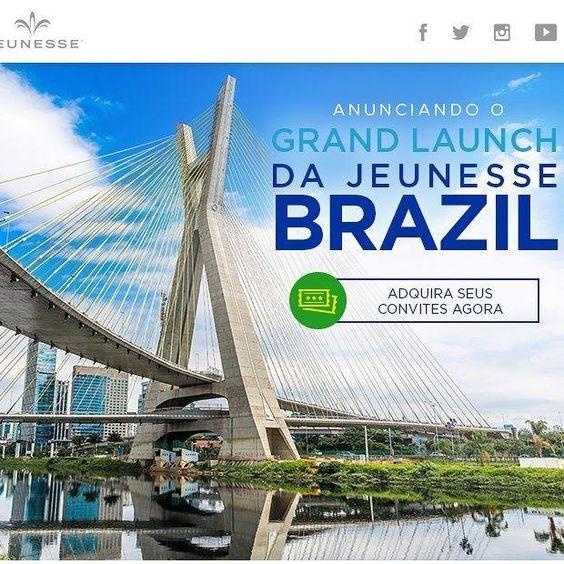 Anunciando o Grand Launch da Jeunesse Brasil! Não perca adquirar ingressos para o vossa equipe aqui: http://ift.tt/1PtJUcK http://ift.tt/20jhxot
