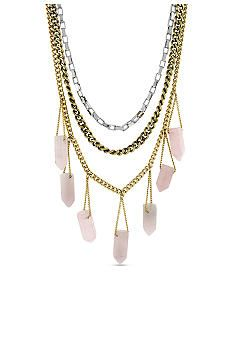 BCBGeneration Layer Rose Necklace