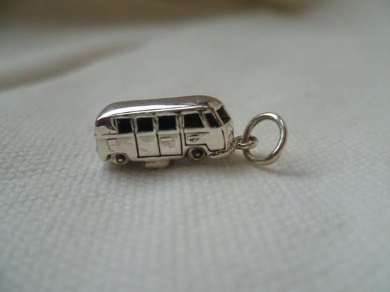 Sterling Silver Volkswagen VW Camper Van Charm by FullerVintage