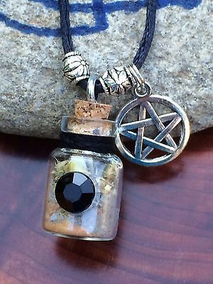 Ward Off Evil Pentagram Protection Spell Bottle Amulet Charm Wiccan Pagan Witch