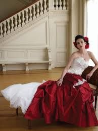 white and red wedding dresses - Google Search