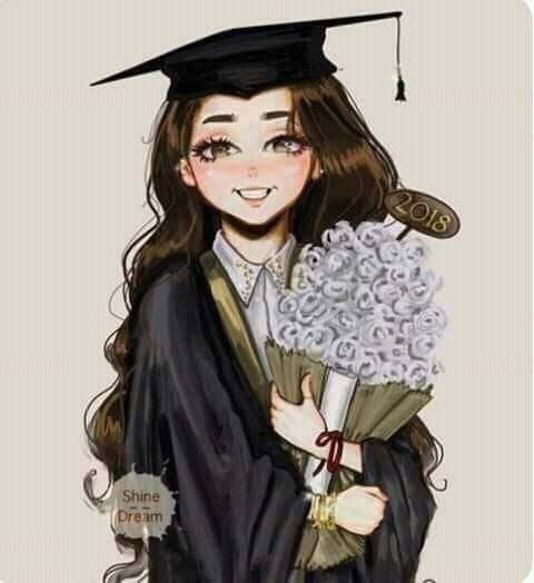 مبروك التخرج Graduation Art Graduation Girl Fashion Art Illustration