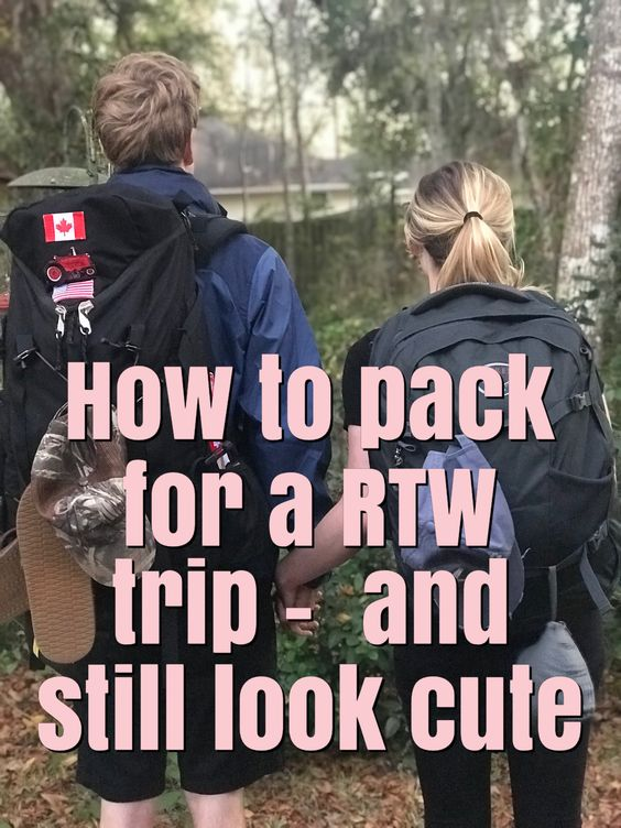 FASHIONABLE PACKING LIST FOR A ROUND THE WORLD TRIP - for the long term female traveler