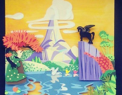 "Check out new work on my @Behance portfolio: ""Paper Cut Disney (Fantasia)"" http://on.be.net/1Tz5ZVB"