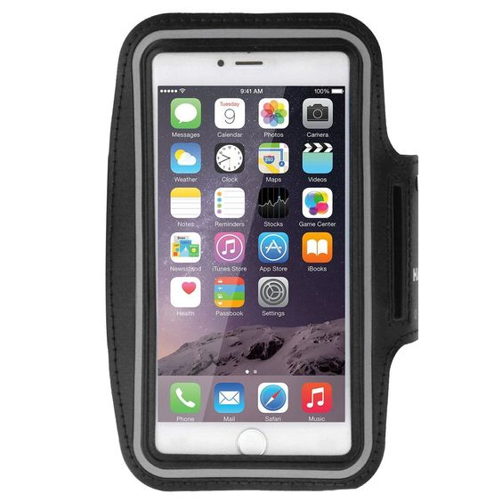 iPhone 6S Plus Sportarmband, HAWEEL ® Sport Armbandtasche mit Ohrhörer Loch & Schlüssel Tasche für iPhone 6 Plus & 6 s Plus, Samsung Galaxy S6 / S5, schwarz: Amazon.de: Elektronik