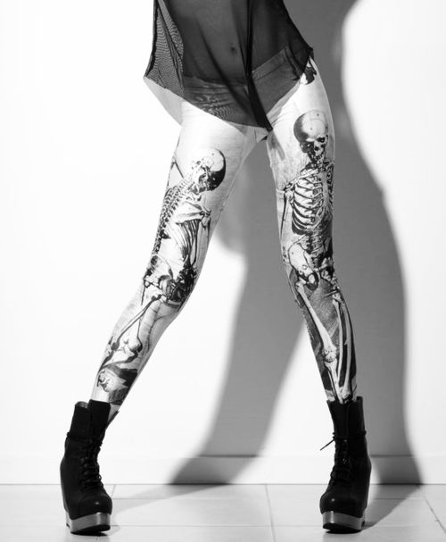 skeleton legging!!!!