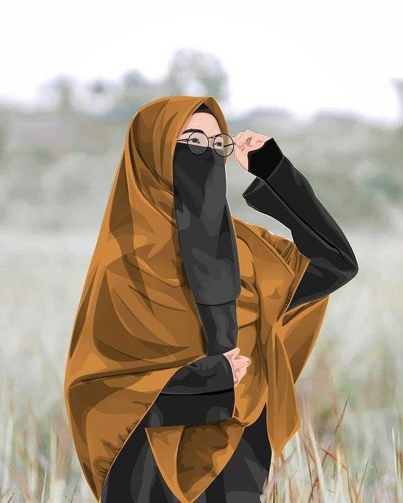 Gambar Animasi Muslimah Dewasa
