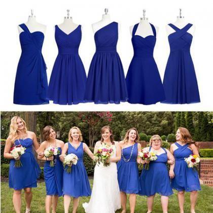 Clic French Riviera Wedding Royal Blue Bridesmaid Dresses Bridesmaids And