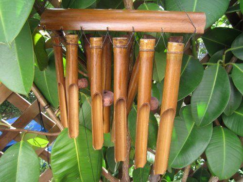 Ca 80cm Windspiel beruhigender Klang Feng Shui Bambus Wind Spiel - feng shui gartendeko