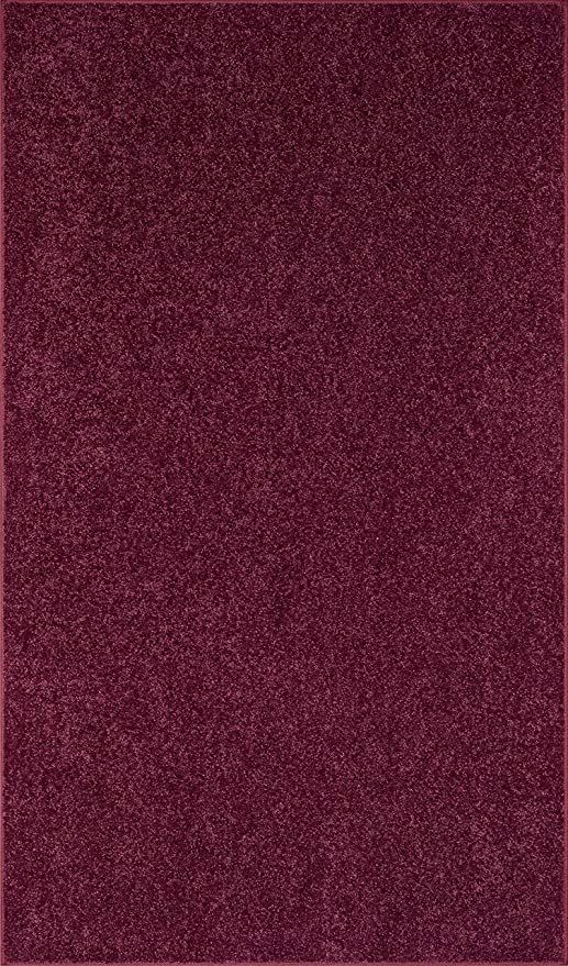 Ambiant Pet Friendly Solid Color Area Rug Cranberry 12 X 20 With Non Slip Backing In 2020 Oversized Area Rugs Solid Color Area Rugs Area Rugs
