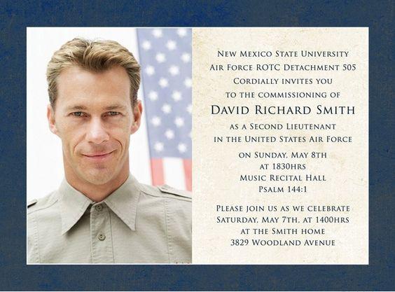 Air Force Commissioning Photo Invitation – Religious Graduation Invitations