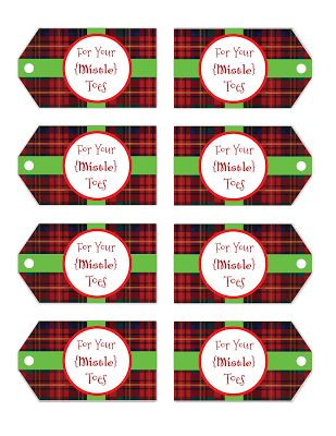 """foto de """"for your mistletoes"""" free printable gift tags :: tis"""
