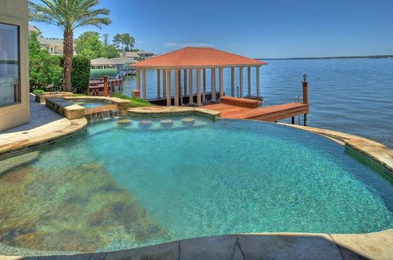 lakefront swimming pools - Google Search